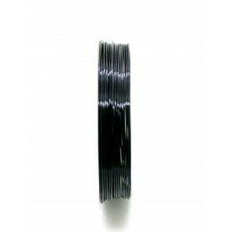 Bobine de fil à bijoux en cuivre noir 0.6 mm x 6 m