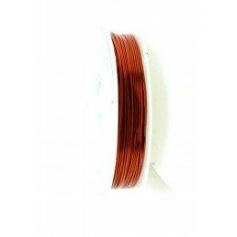 Bobine de fil à bijoux en cuivre marron 0.6 mm x 6 m
