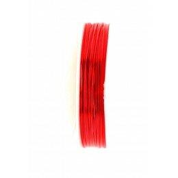 Bobine de fil à bijoux en cuivre rouge 1 mm x 2,5 m