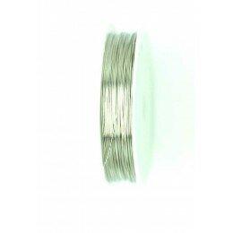 Bobine de fil à bijoux en cuivre argenté 0.6 mm x 7 m