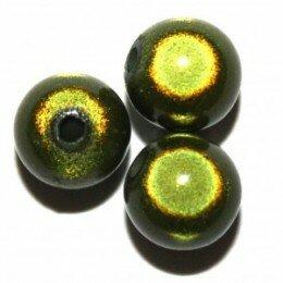 Perle magique 20 mm vert foncé x 1