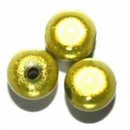 Perle magique 20 mm jaune vert x 1