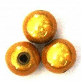 Perle magique 20 mm jaune orangé x 1