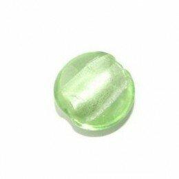 Bombée feuille d'argent 15 mm vert d'eau x 4
