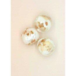 Perle ronde verre 8 mm blanche x 1
