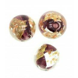 Perle ronde verre 8 mm grenat x 1