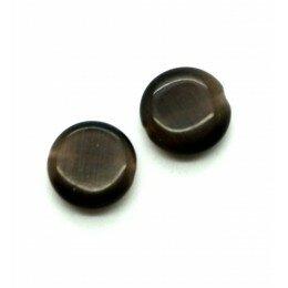 Perle bombée Oeil de chat 12 mm noir x 4