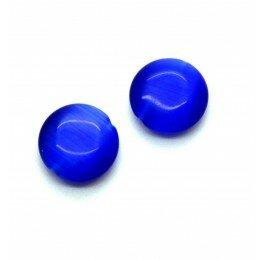 Perle bombée Oeil de chat 12 mm bleu marine x 4