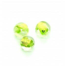 Perle ronde en verre 8 mm vert clair x 1