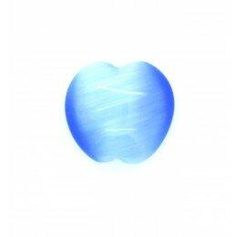 Perle bombée Oeil de chat 14 mm bleu x 2