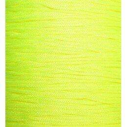 Fil nylon tressé 1 mm jaune fluo x 3 m