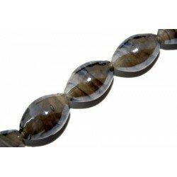Olive irisée 17x11 mm grise x 5