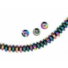 Perle Hématite rondelle gazoil 6x3 mm x 20