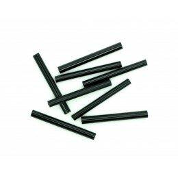 Perle tube en verre 25x3 mm noir x 40