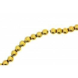 Perle Hématite doré 6 mm x 20