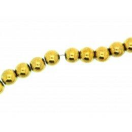 Perle Hématite doré 8 mm x15