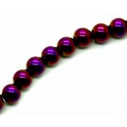 Perle Hématite violet/doré 8 mm x15