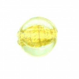 Perle palet feuille dorée 13x7mm x 2