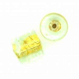 Cylindre feuille d'argent dorée 10x10 mm x 2