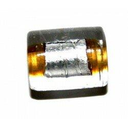 Cylindre topaze centre argent 12,5x10 mm x 4