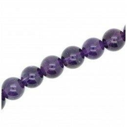 Perle Améthyste ronde 10 mm x 2 grade AA