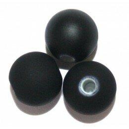 Perle satin noir 6 mm x 50