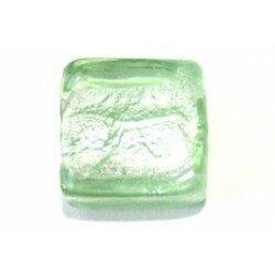 Carré plat feuille d'argent 12 mm vert pastel x 4