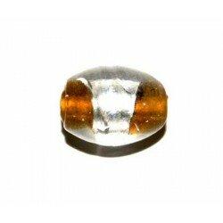 Olive topaze centre argent 12x10 mm x 4