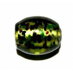 Olive verte feuille d'argent tachetée 15x13 mm x 2